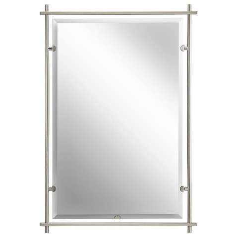 Kichler 41096NI Mirror in Brushed Nickel.