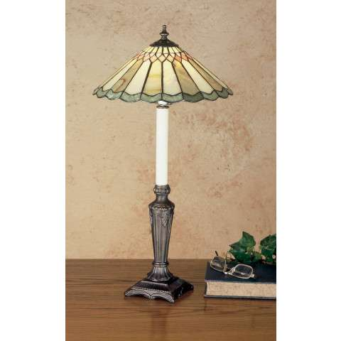 Meyda Tiffany 48384 Jadestone Carousel Buffet Lamp in Copperfoil finish with Stone shade(s)