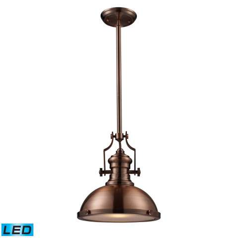 Chadwick 1-Light Pendant In Antique Copper - LED Offering Up To 800 Lumens (60 Watt Equivalent) W…