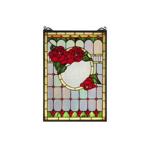 Meyda Tiffany 119443 Morgan Rose Stained Glass Window