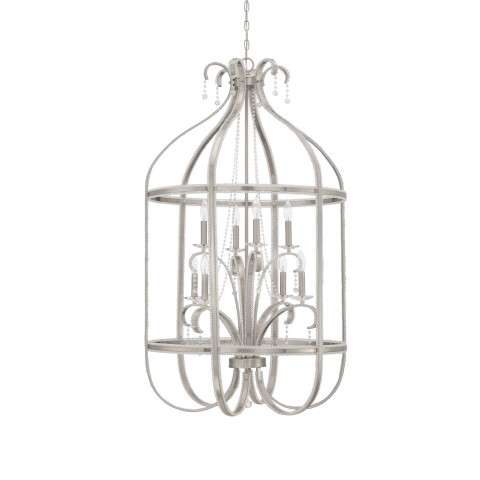 Andrianna 8 Light Foyer in Brushed Polished Nickel