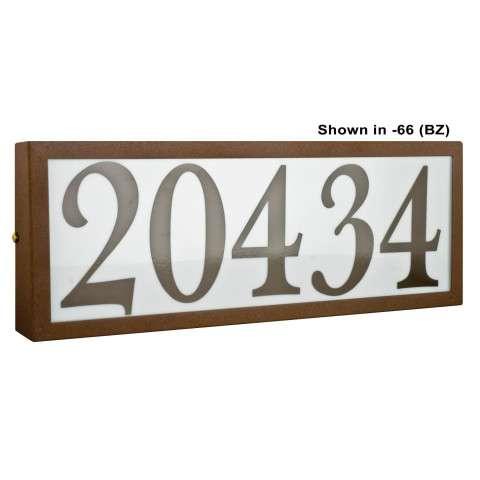 Sunset Lighting F10051-30 Large Address Light Standard 4 inch Numbers Black Vinyl in White Finish