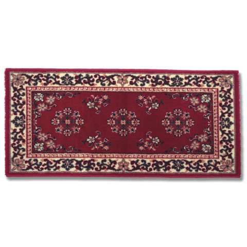 Oriental Hearth Rug - Large Rectangular - Burgundy