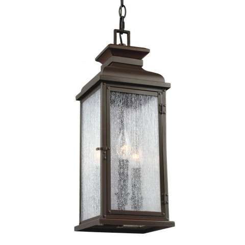 Pediment 2 - Light Outdoor Pendant in Dark Aged Copper