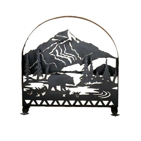 "Bear Fireplace Screen - 30"" Wide x 30"" Tall"