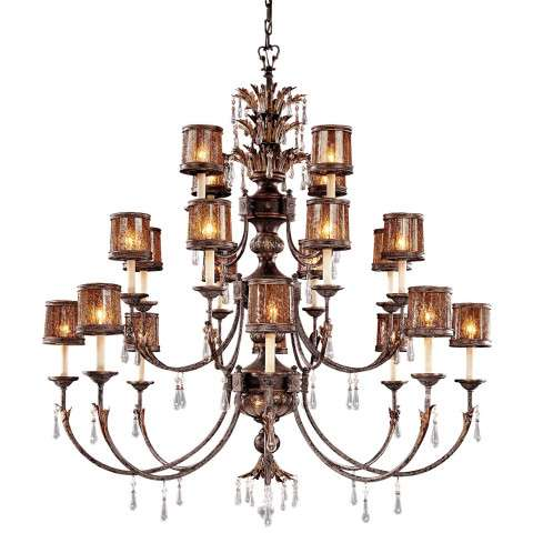 Metropolitan N6069-194 Twenty-two Light Chandelier in Sanguesa Patina™ finish with Vidrio Artistico Glass