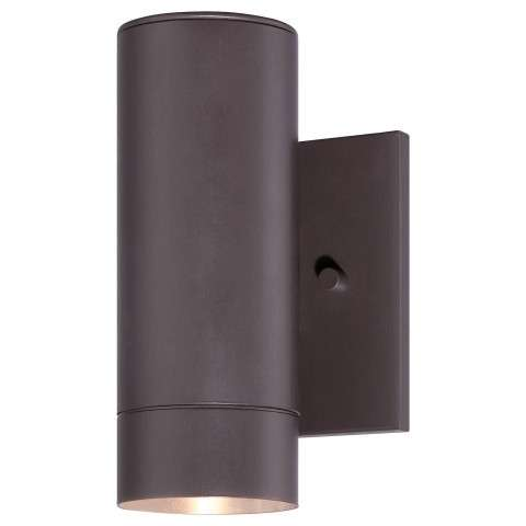 "The Great Outdoors Outdoor Lantern 1-Lite Led Wall Bracket Tested 3"" In Dorian Bronze"