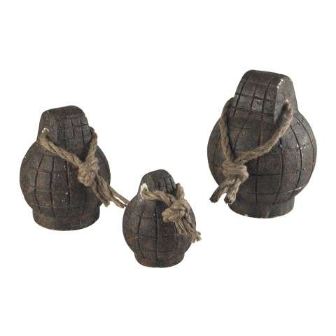 Sterling Furnishings 129-1034 Set Of 3 Reclaimed Mine Accessories