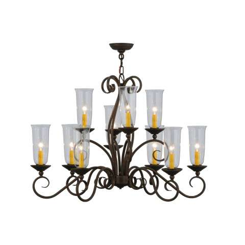 "36"" L Wallis 10 Lt Oblong Chandelier. Custom Crafted In Yorkville - New York Please Allow 30 Days"