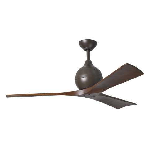 Matthews Fan Co. Atlas Irene 52 Inch 3 Blade Ceiling Fan Model IR3-TB-WA-52 in Textured Bronze