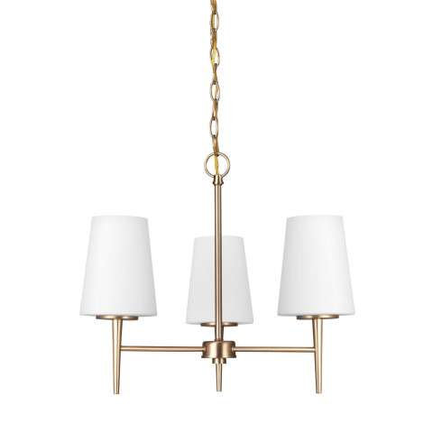 Driscoll - Three Light Chandelier in Satin Bronze