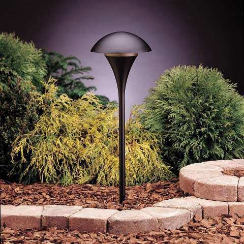 Kichler 15236BKT Path & Spread 1-Lt 120V in Textured Black.