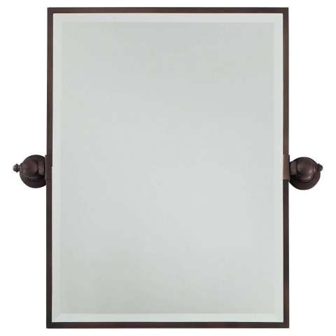 Minka Lavery Lighting 1440-267 Rectangle Mirror in Dark Brushed Bronze finish