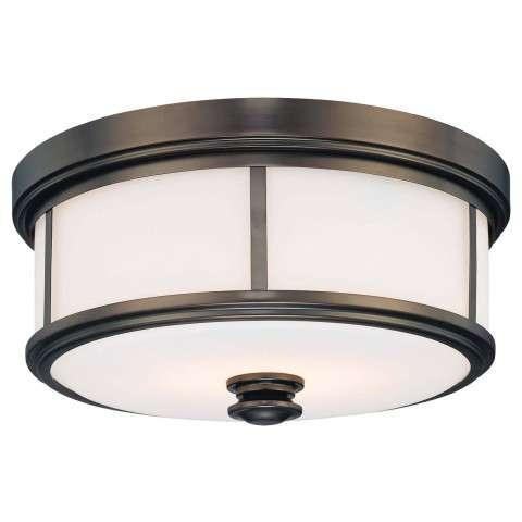 Minka Lavery Lighting 4365-281 Flush Mount in Harvard Court Bronze finish