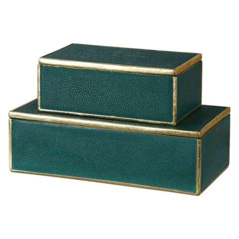 Karis Emerald Green Boxes S/2