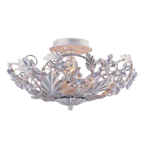 Crystorama 5316-AW Abbie Collection Hand Cut Crystal Semi Flush