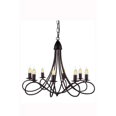 "1452 Lyndon Collection Pendant lamp D:28"" H:23"" Lt:8 Dark Bronze Finish"