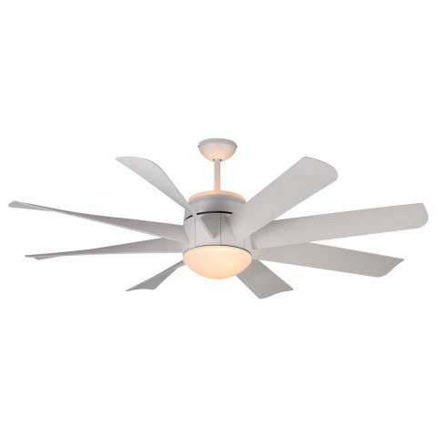 Monte Carlo Turbine Ceiling Fan Model MC-8TNR56RZWD-V1 in Rubberized White