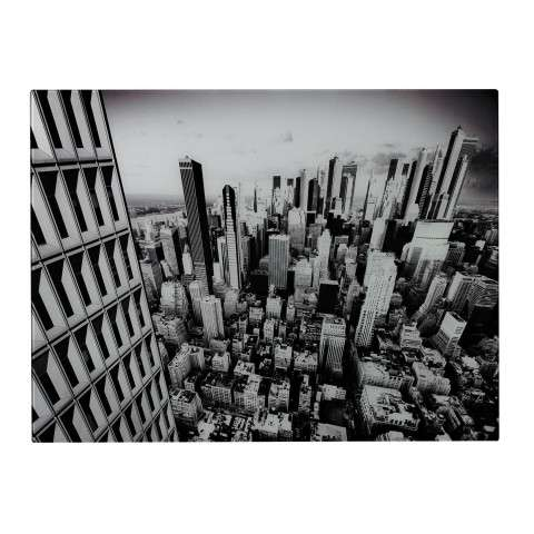 Wall Art - Manhattan-New York City Image Printed On Glass - Glass