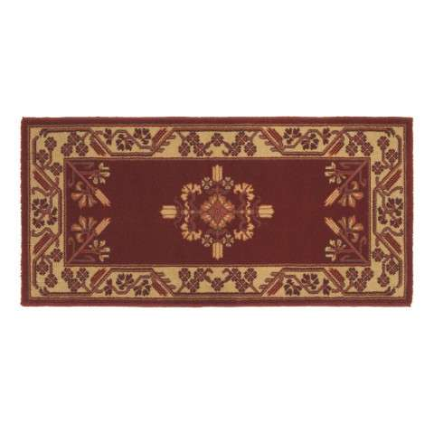 Jardin Hearth Rug - Rectangular - Vermillion