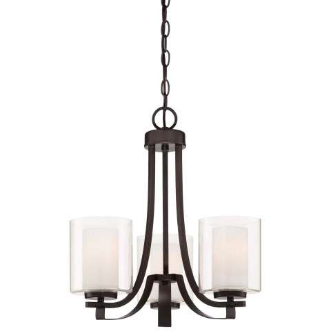 Other Chandelier Fixtures 3 Lt Ch In Smoked Iron