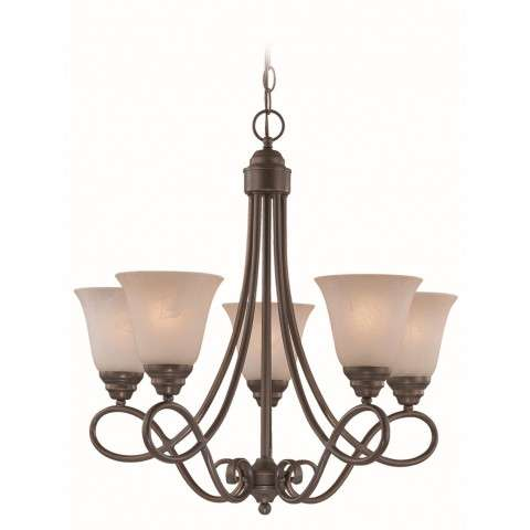 Craftmade Exteriors Cordova - Old Bronze 5 Light Chandelier in Old Bronze