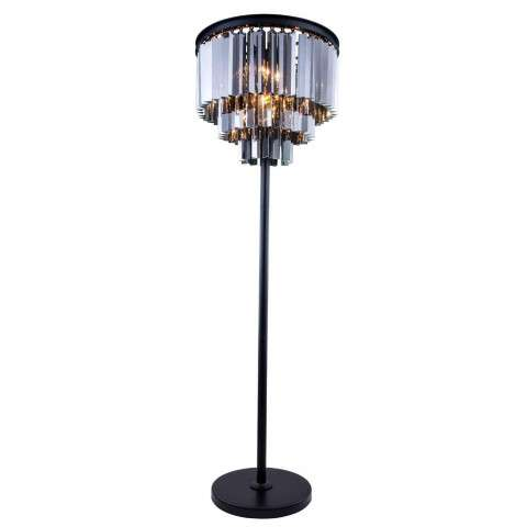"1201 Sydney Collection Floor Lamp D:20"" H:63"" Lt:4 Mocha Brown Finish (Royal Cut Silver Shade Crystals)"