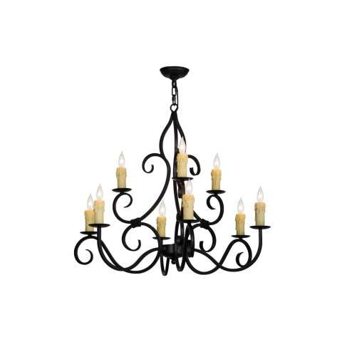 "36"" W Clayton 9 Lt Chandelier. Custom Crafted In Yorkville - New York Please Allow 30 Days"