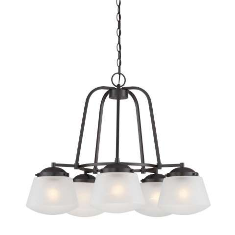Mason 5 Light Chandelier in Satin Bronze