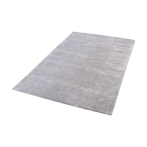 Logan Handwoven Viscose Rug In Silver - 3ft x 5ft