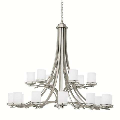 Kichler 1873NI Chandelier 18Lt in Brushed Nickel.
