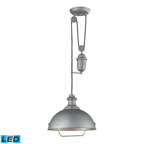 Farmhouse Aged Pewter Pendant - LED Offering Up To 800 Lumens (60 Watt Equivalent) With Full Rang…