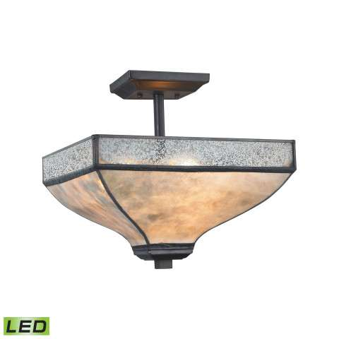 Santa Fe 3 Light LED Semi Flush In Tiffany Bronze