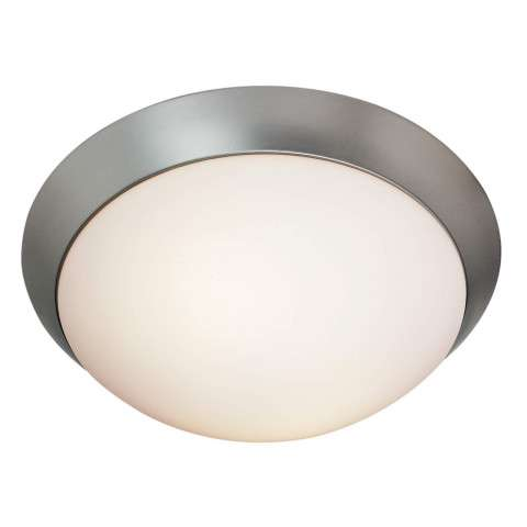 Access Lighting 20624GU-BS/OPL Cobalt Flush-Mount in Brushed Steel finish with Opal glass