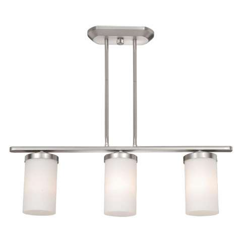 Oxford 3L Pendant Brushed Nickel