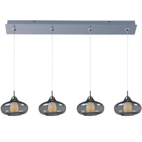 ET2 Contemporary Lighting E94948-142PC Minx 4-light Linear Pendant in Polished Chrome finish with Graduating Smoke glass
