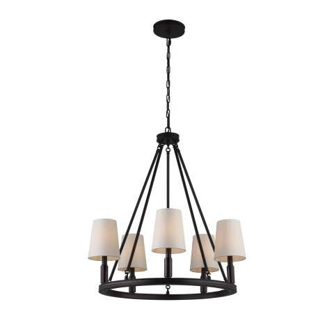 Lismore 5 Bulb Oil Rubbed Bronze Chandelier