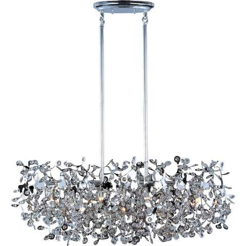 Maxim 24206BCPC Comet 7-Light Pendant in Polished Chrome with Beveled Crystal glass.