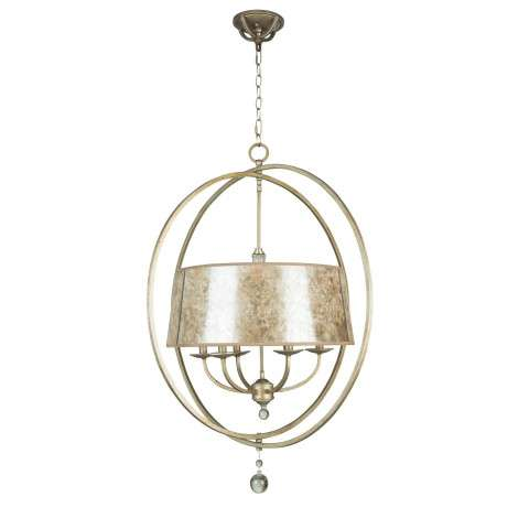 Craftmade Exteriors Windsor - Athenian Obol 6 Light Chandelier in Athenian Obol