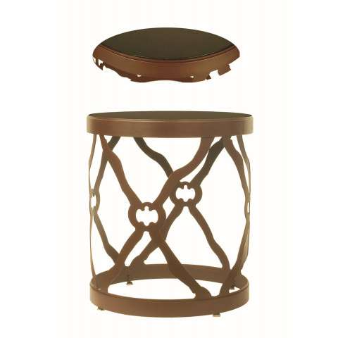 Meyda Tiffany 68395 Metal and Stone Table in Cafe Noir finish