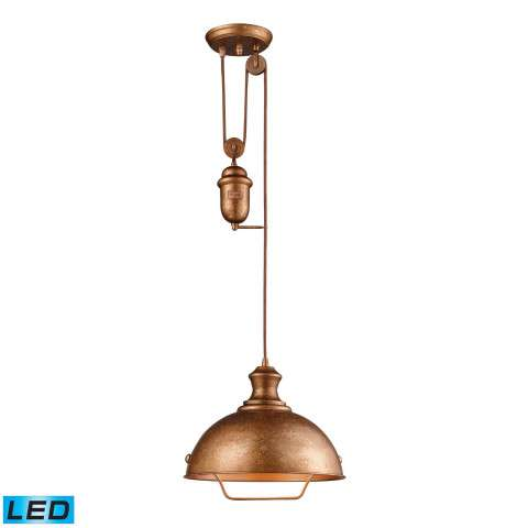 Farmhouse Bellwether Copper Pendant - LED Offering Up To 800 Lumens (60 Watt Equivalent) With Ful…