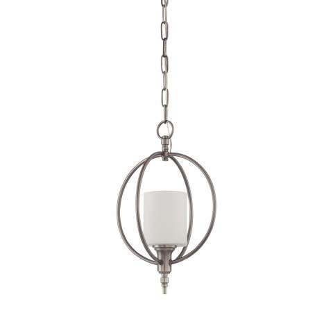 Jeremiah Indoor Lighting 1 Light Entry In Antique Nickel