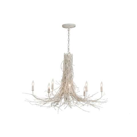 "40"" L Twigs 8 Lt Chandelier. Custom Crafted In Yorkville - New York Please Allow 30 Days"
