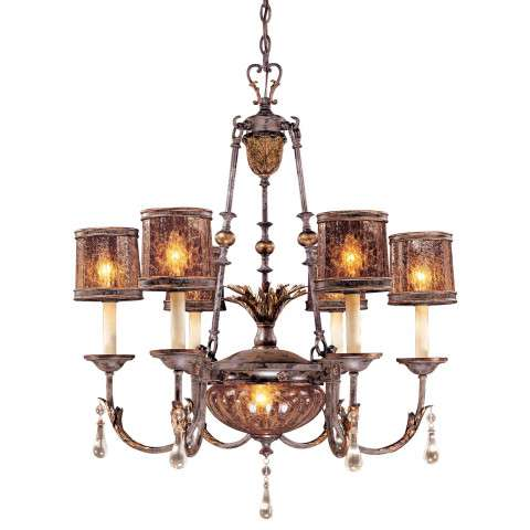 Metropolitan N6076-194 Eight Light Chandelier in Sanguesa Patina™ finish with Vidrio Artistico Glass