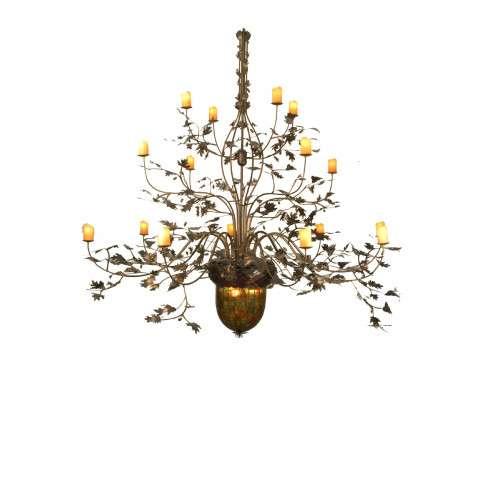 Meyda Tiffany 69366 Greenbriar Oak 16 Arm Chandelier