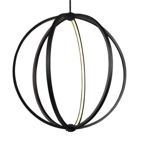 "Khloe 30"" LED Globe Pendant in Oil Rubbed Bronze"