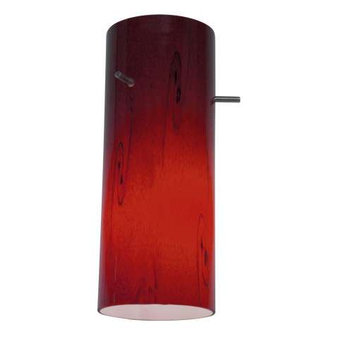 Access Lighting 23130-RUSKY Inari SilkGlass Shade in Rust finish with Ruby Sky glass