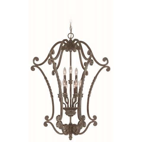 Craftmade Exteriors Sutherland - English Toffee 9 Light Cage in English Toffee