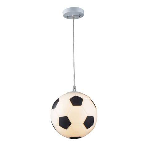 Elk Lighting 5123/1 1 Light Soccer Ball Pendant In Silver