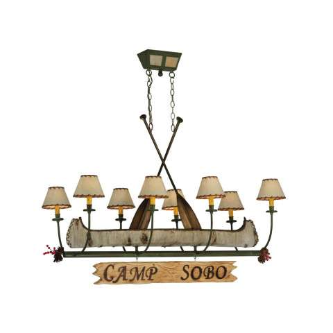 "51.5""L Personalized Canoe 8 Lt Chandelier"